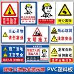 Construction safety warning sign(PVC)